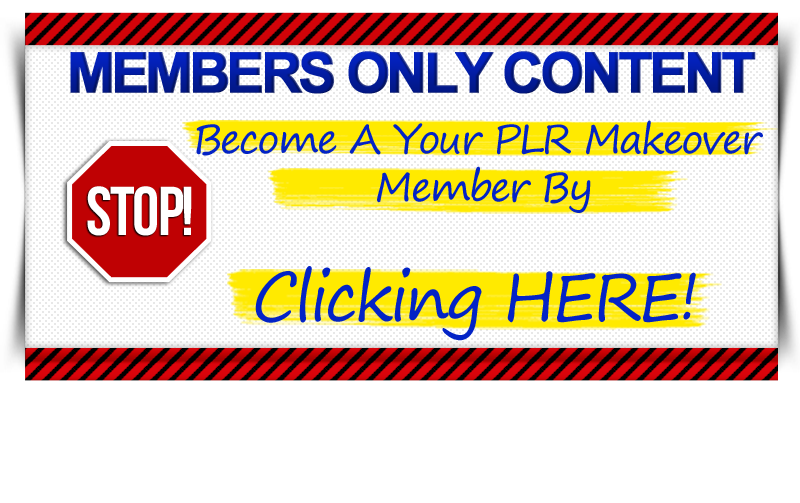 Your PLR Makeover Members Only image